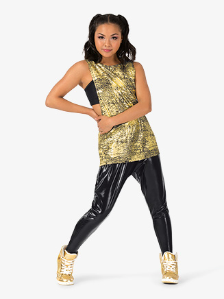 "Womens Performance ""Blaze"" Metallic Loose Tank Top - Style No EL193"