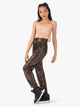 "Girls Performance ""Swag"" Metallic Jogger Pants - Style No EL211C"