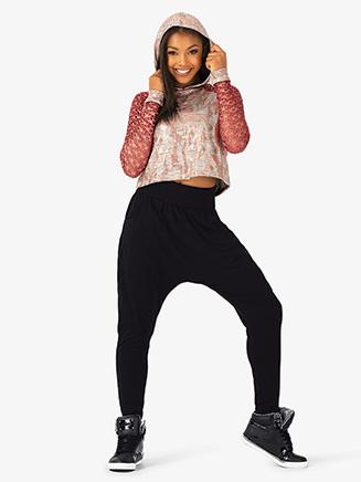 "Womens Performance ""Flexx"" Dual Metallic Hooded Sweater - Style No EL217"