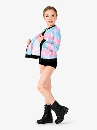 "Girls Performance ""Beats"" Pastel Zip Up Jacket - Style No EL226C"