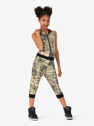 "Girls Performance ""Flexx"" Zipper Hooded Tank Top - Style No EL227C"
