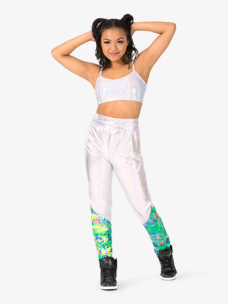 "Womens Performance ""Groove"" Dual Metallic Sweat Pants - Style No EL231"