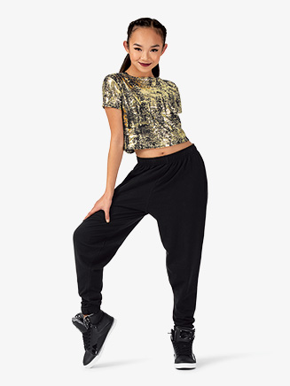 """Womens Performance """"Freestyle"""" Short Sleeve Crop Top - Style No EL233"""