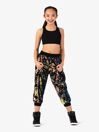 "Womens Performance ""Freestyle"" Sequin Sweat Pants - Style No EL235"