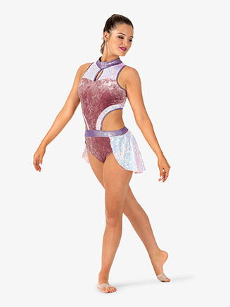 Womens Performance Iridescent Sequin Tank Leotard - Style No EL249