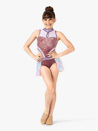 Girls Performance Iridescent Sequin Tank Leotard - Style No EL249C