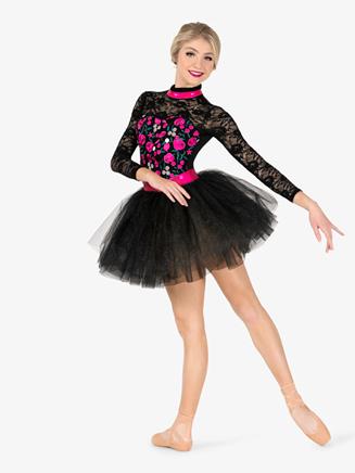 Womens Performance Floral Lace Tutu Dress - Style No EL256