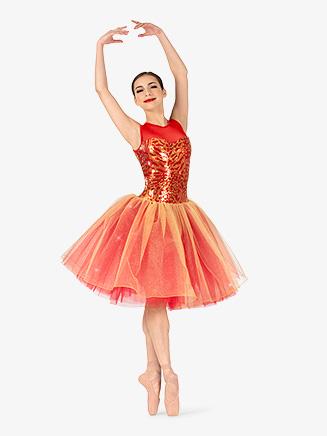 Womens Performance Sequin Bodice Tank Tutu Dress - Style No EL258