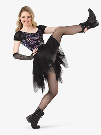 Womens Performance Plaid Print Asymmetrical Dress - Style No EL272