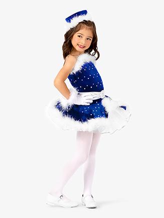 Girls Two-Tone Camisole Dance Costume Dress Set - Style No EL279C