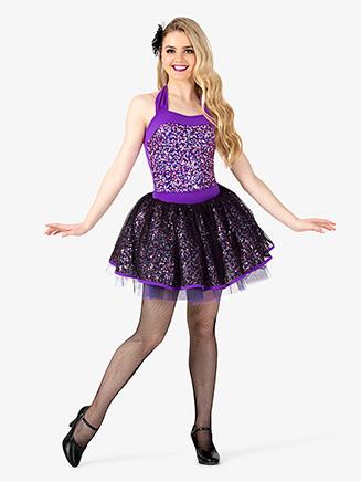 Womens Leotard & Skirt 3-Piece Dance Costume Set - Style No EL284