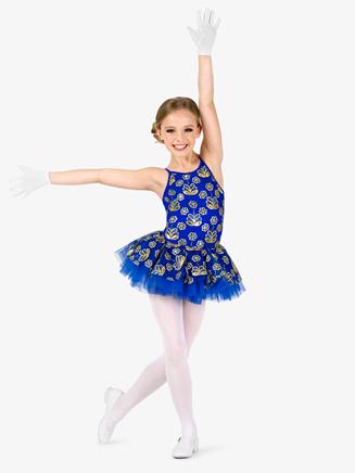 Girls Performance Flower Sequin Camisole Tutu Dress - Style No EL289C