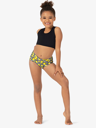 Girls Lemon Print Dance Briefs - Style No ELA30C