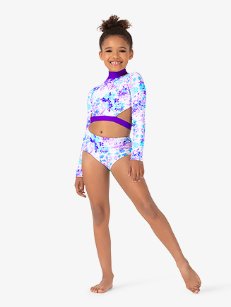 Girls Pastel Floral Dance Briefs - Style No ELA36C