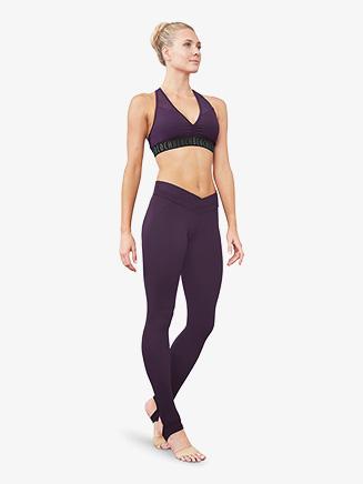 Womens Mesh Waistband Stirrup Leggings - Style No FP5147