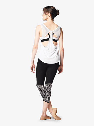 Womens Mesh Back Cutout Dance Tank Top - Style No FT5057