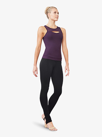 Womens Crisscross Back Fitted Dance Tank Top - Style No FT5140