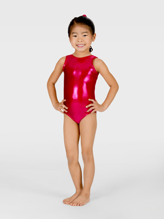 Child Metallic Tank Leotard - Style No G500C