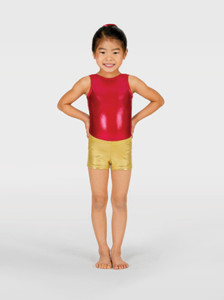 Child Metallic Dance Short - Style No G502C