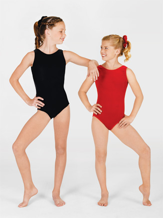Child Velvet Tank Leotard - Style No G505C