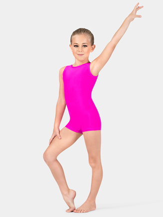 Child Basic Tank Shorty Unitard - Style No G594C