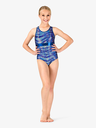 Girls Gymnastics Fish Scale Tank Leotard - Style No G692C