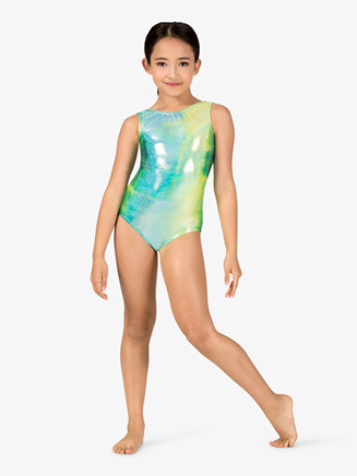 Girls Gymnastics Twinkle Print Tank Leotard - Style No G721C