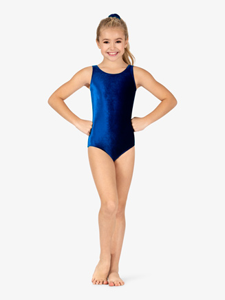 Girls Basic Velvet Tank Leotard - Style No GB113C