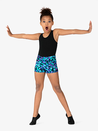 "Girls ""Ink Spot"" Dance Shorts - Style No GB165C"