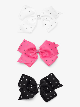 Rhinestone Embellished Hair Bow - Style No GB8