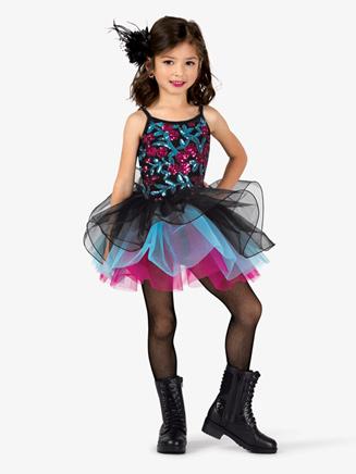 Girls Performance Sequin Bodice Camisole Tutu Dress - Style No GRA158C