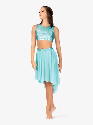 Womens Iridescent Waistband Performance High-Low Skirt - Style No ING146x