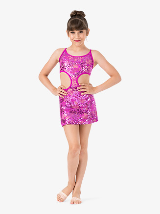 Girls Performance Lace Open Back Camisole Dress - Style No ING208C