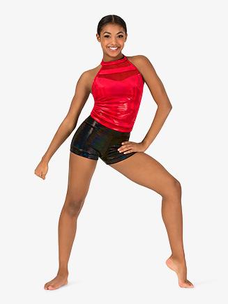 Womens Team Sequin Dot Velvet Halter Top - Style No ING211