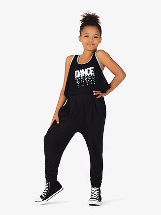 "Girls ""Dance"" Print Tank Dance Top - Style No KA046T"