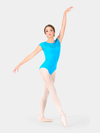 """Adult Lace Cap Sleeve """"Suzanne"""" Leotard - Style No L534"""
