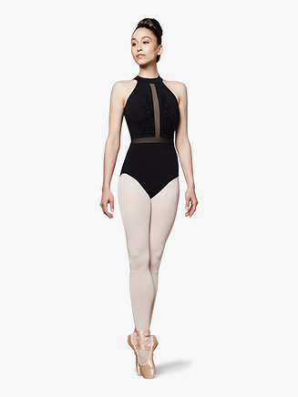Womens Vine High Neck Halter Leotard - Style No L5525