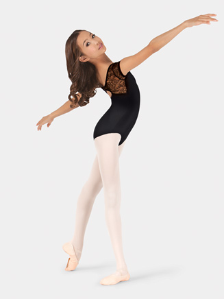 Girls Lace Cap Sleeve Leotard - Style No L575