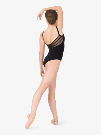 Womens Camisole Basket Weave Mesh Back Leotard - Style No L8820