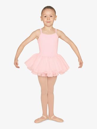 Girls Rhinestone Mesh Camisole Ballet Tutu Dress - Style No M1074C