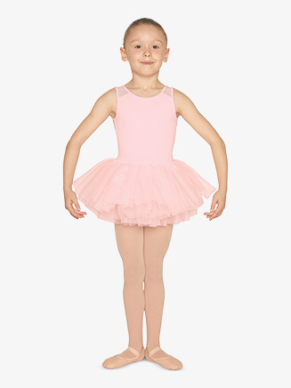 Girls Heart Flock Mesh Tank Ballet Tutu Dress - Style No M1077C