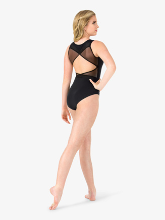 Womens Mesh Wrap Back Tank Leotard - Style No M2101x