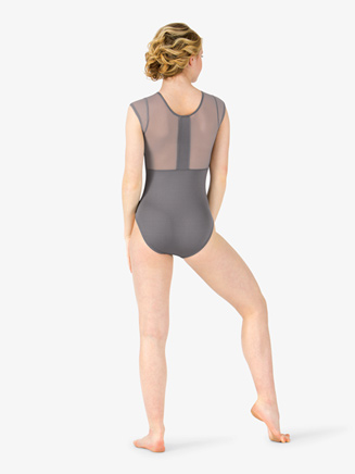 Womens Mesh Short Sleeve Leotard - Style No M2759