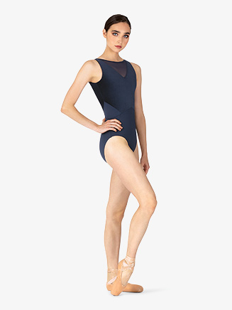 Womens Velvet V-Back Tank Leotard - Style No M3075LM