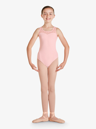 Girls Keyhole Back Tank Leotard - Style No M367C