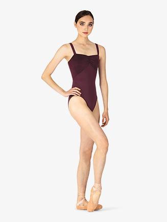 Womens Velvet Gathered Front Camisole Leotard - Style No M4032LM