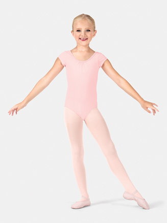 Child Cap Sleeve Bow Leotard - Style No M414C
