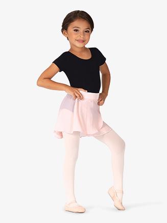 Girls Velvet Waistband Pull-On Ballet Skirt - Style No MS135C