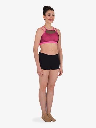 Womens Mesh Racerback Dance Bra Top - Style No MT225