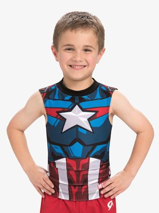 Boys/Mens Marvel Captain America Compression Shirt - Style No MV034C
